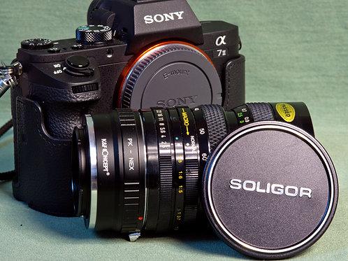Soligor PK mount 35-70mm F2.5-3.5 lens with K&F PK - E mount