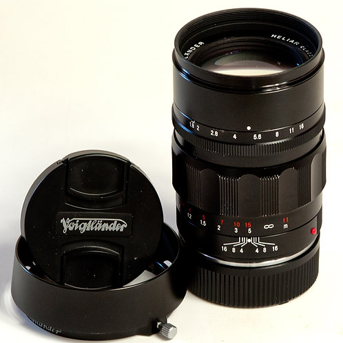 Voigtlander 75mm F1.8 Heliar lens side view