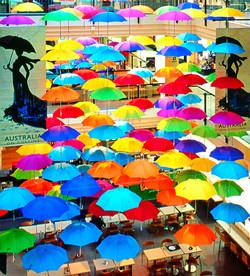 Umbrellas on Collins, Melbourne