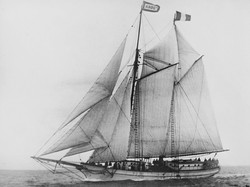 Tiare Taporo, under full sail