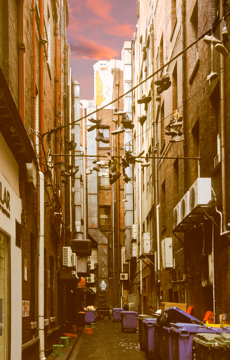 Back alley in Melbourne CBD