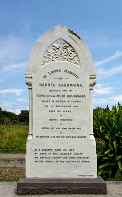 Hakota Karapaina Headstone