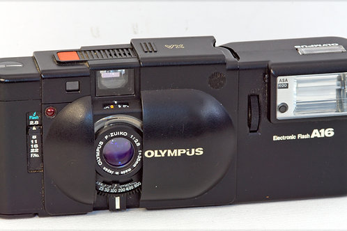 Olympus XA cover open front view