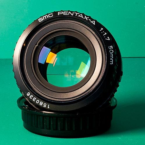 Pentax-A SMC 50mm F1.7 MF lens S#1580336