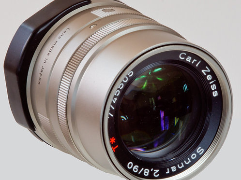 Carl Zeiss Sonnar 90mm F2.8 Contax G lens front view