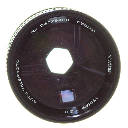 Pentax 135mm f2.8 lens front view