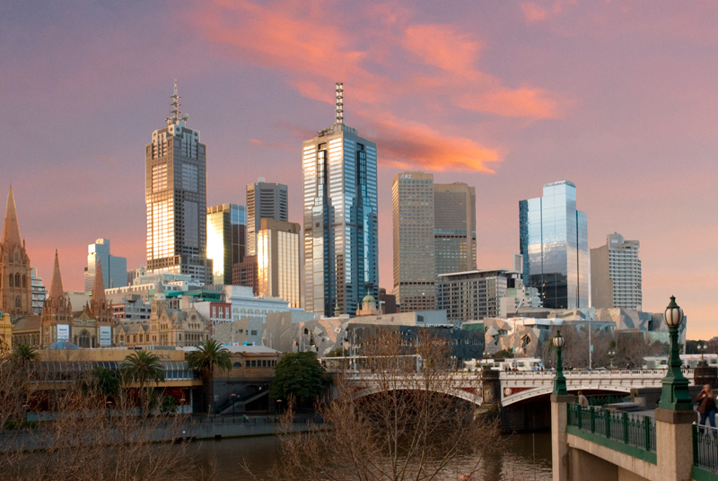 Melbourne, Southbank Skyline