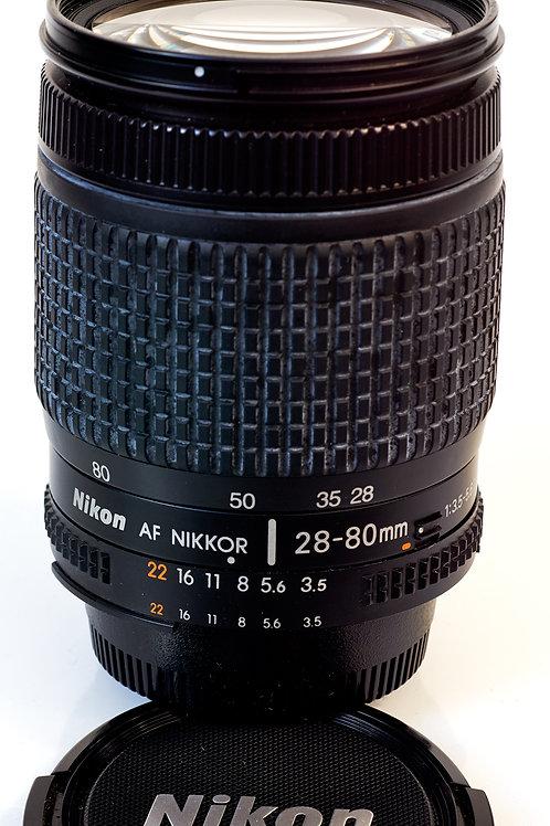 Nikon 28-80 AFD lens side view