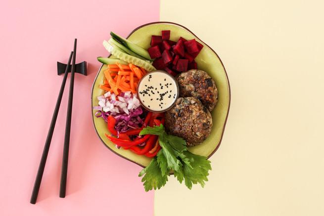out to lunch vegan food wokshots photogr