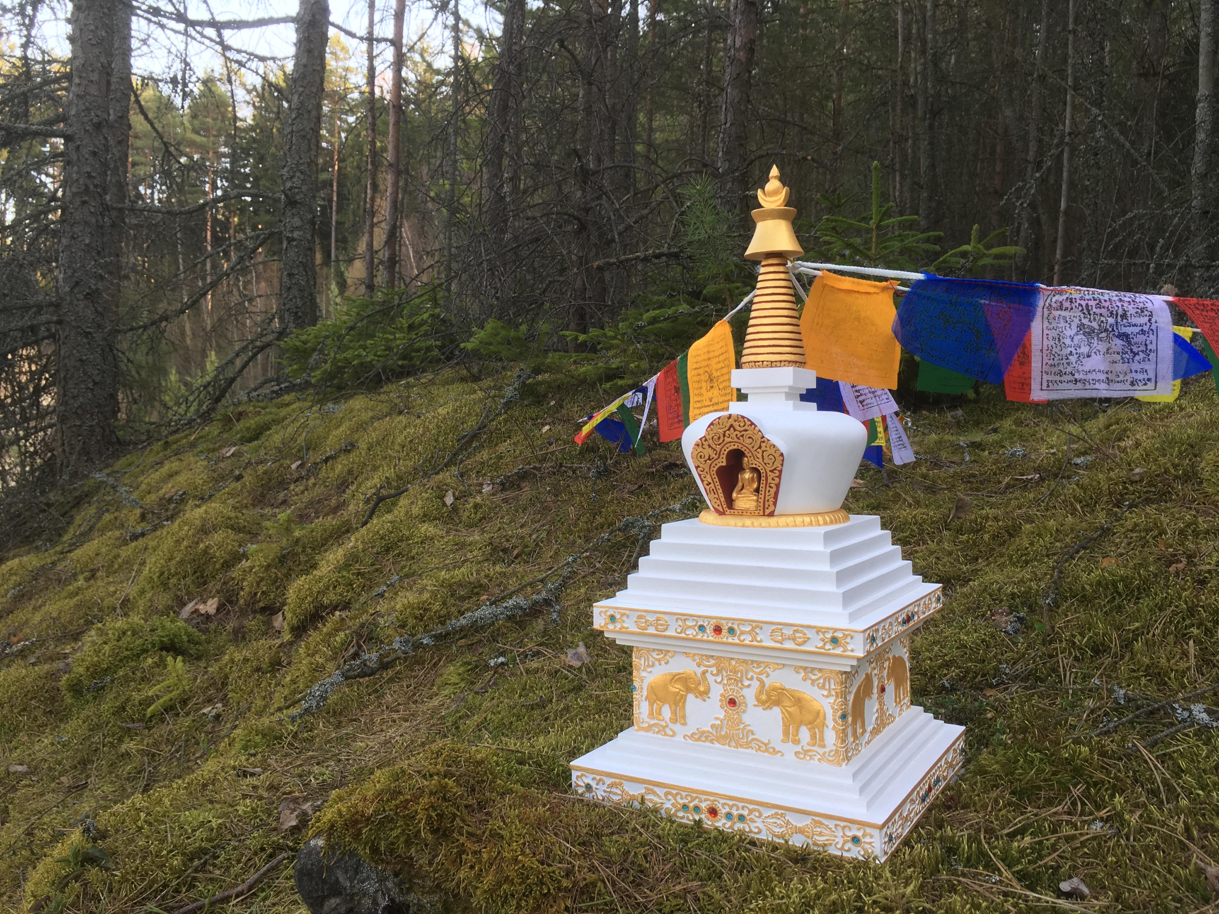 modlitebni praporky stupa