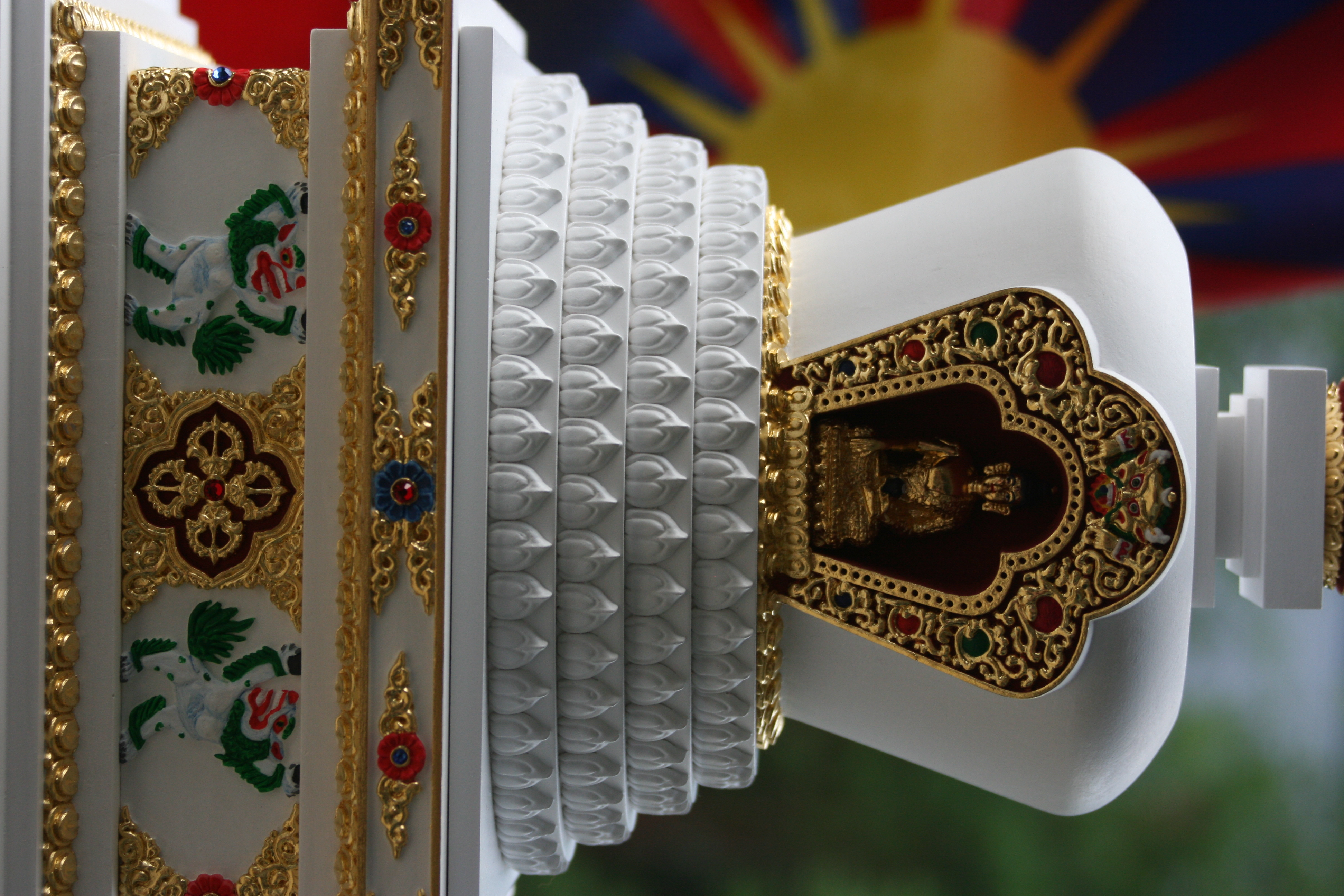 tibetska lotosova stupa 7