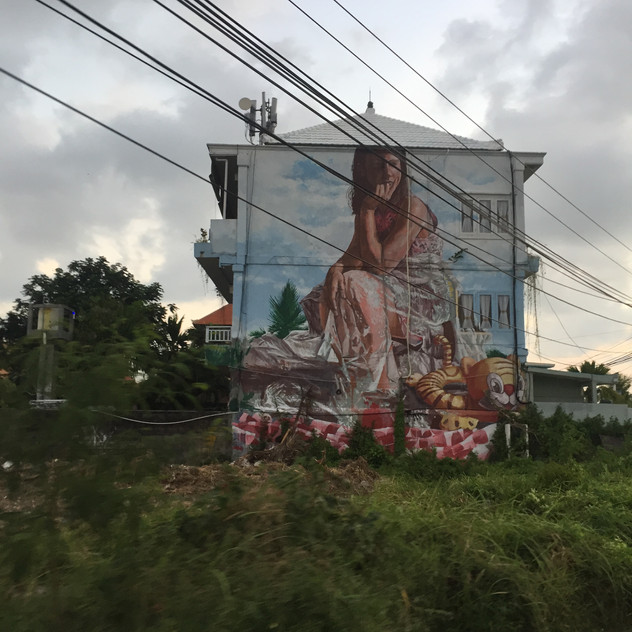 Spotted Fintan Magee's work in Bali