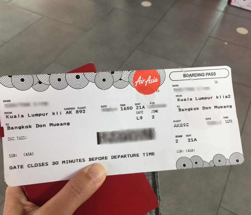 AirAsia Boarding pass