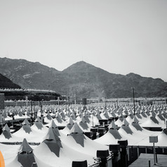 A sea of tents stretch further than the eye can see to accommodate the 3+ million Hujjaj.