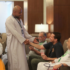 Shaykh Abu Usamah (Religious Advisor) is well known for lifting the mood of the Hujjaj.