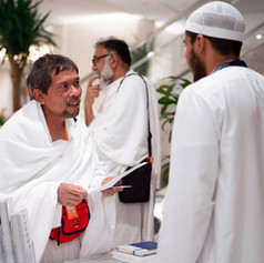 Group arrival at the Conrad Makkah.