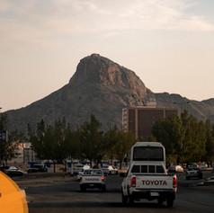 Jabal Al-Noor as seen from the coach window on the Makkah Ziyarah trip.