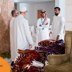 Checks finalised at the Shisha building ready for the Hujjaj to use.
