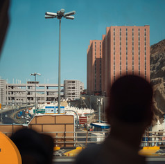 The group was taken to the sights they'd visit during the days of Hajj.  In the distance the grey Jamaraat complex is visible. With the complex split on different floors, stoning is made much easier and far less congested.