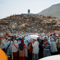Jabal Rahma busy before the days of Hajj even begin!