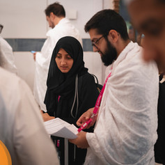 Group arrival at the Dar Al-Tawhid Intercontinental, Makkah.