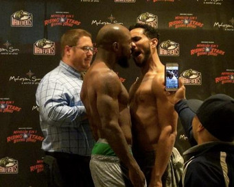 Alexander and Ayala Exchange Heated Words During Face-off. WEIGHTS FOR MOHEGAN SUN 10-5-2017 EVENT.