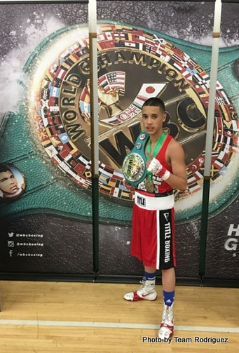 Jose Rodriguez the WBC Amateur Boxing Champ. in the 106 Weight Class