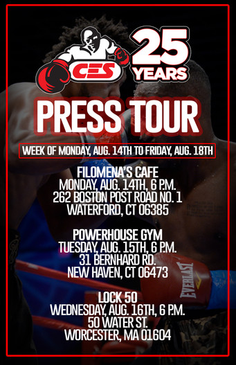 Regional media tour kicks off Monday as CES boxing winds down summer schedule with 2 huge events