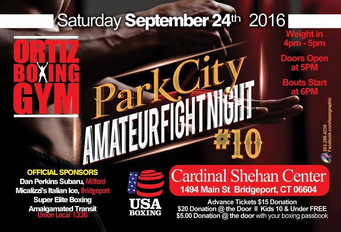 "Another Exciting Night of Amateur Boxing in Connecticut.  ""Park City Amateur Fight Night #10""  - Tic"