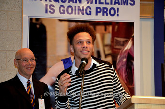 """Today at Prince Tech in Hartford, Connecticut, Mykquan """"Mykey"""" Williams signs his Pro Boxing Contrac"""