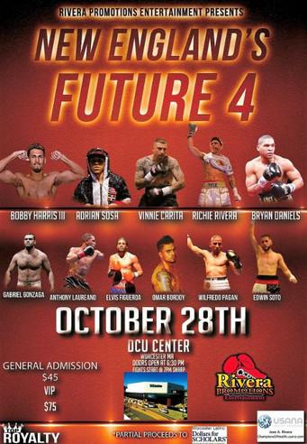 "Cruiserweight Vinnie Carita to headline ""New England's Future 4""   Former UFC heavywei"