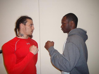 Christopher Brooker & Antowyan Aikens meet Face to Face before their big showdown this Friday, M