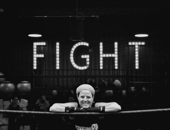 "Boxing photographer Emily ""The Educator"" Harney Enters ring to KO Cancer"