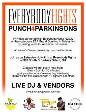 EBF ROCK x PUNCH4PARKINSONS Charity Event