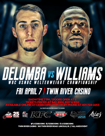 CES adds prestigious WBC crown to next month's DeLomba-Williams welterweight clash at Twin River