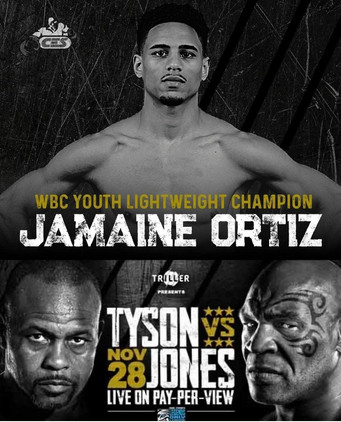 "Undefeated lightweight prospectJamaine ""The Technician"" Ortiz Hopes to steal Tyson-Jones, Jr. show"