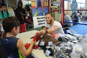 """""""Marvelous"""" Mykquan Williams Meet-and-Greet & Back to School  Backpack Giveaway a KO"""