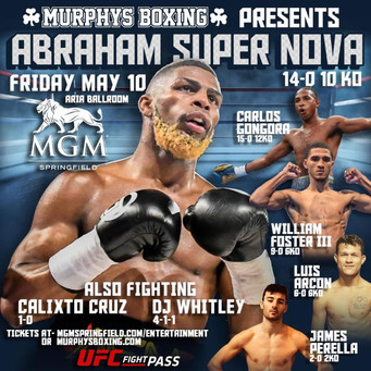 MURPHYS BOXING TO MAKE UFC FIGHT PASS DEBUT FRIDAY, MAY 10 AT MGM SPRINGFIELD  NABA SUPER FEATHERWEI