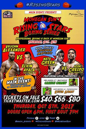 "Mohegan Sun's Rising Stars Boxing Series Local Fighter Spotlight: Nate Green ""He's in T"