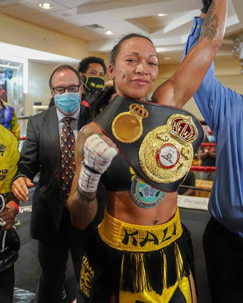 Grand Slam Weekend 4 Split-T Management-Kali Reis wins the WBA Super Lightweight World Championship