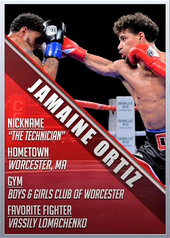 "Undefeated Jamaine ""The Technician"" Ortiz Made his bones in the amateur ranks"