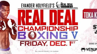 """REAL DEAL CHAMPIONSHIP BOXING V"" OFFICIAL WEIGHTS FROM PROVIDENCE"