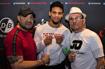 Trainer Rocky Gonzalez declares undefeated lightweight Jamaine Ortiz ready to step up vs.  Adorno