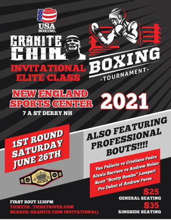 """Inaugural""""Granite Chin Invitational""""& """"Breakout"""" pro card part of Day-Night Doubleheader"""