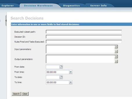 ILOG JRules Decision Warehouse Needs Database