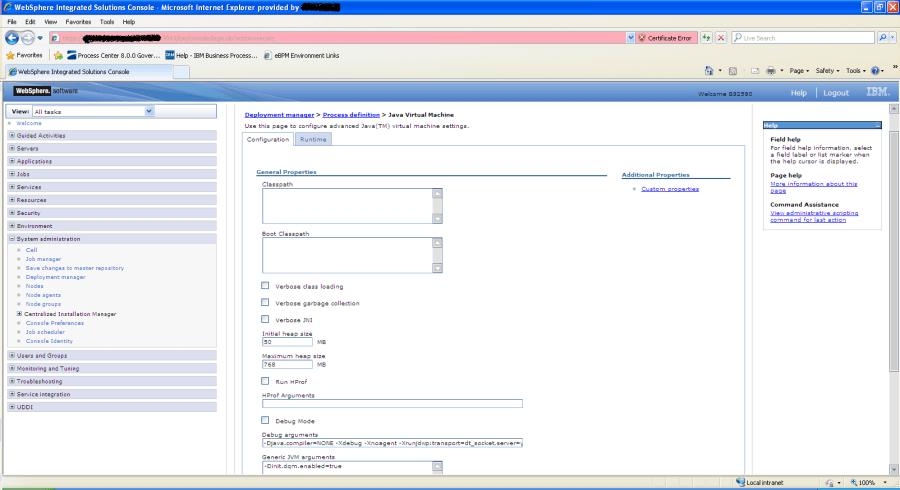 Monitor JVM Arg