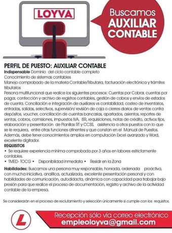 Auxiliar Contable