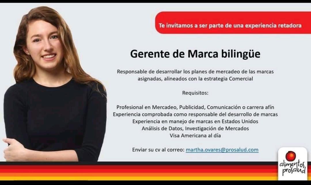 Gerente de marca bilingue