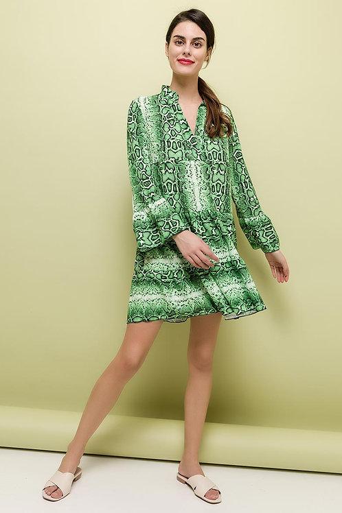 Python groen jurkje, maat TU