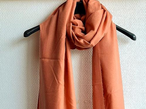 CASHMERE TOUCH sjaal - superzacht - kleur brique